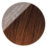 caramello haze #3-12 skin weft hair extensions 20inch 80pcs - two full heads