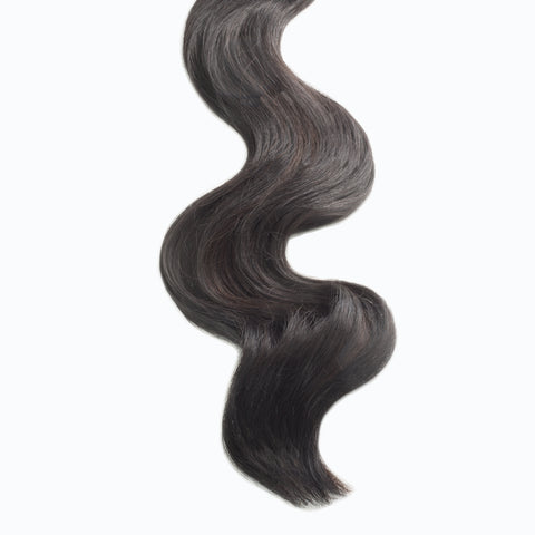 raven brown #1b weft hair extensions 26inch deluxe