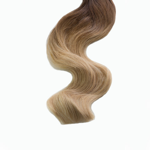 caramello haze #3-12 weft hair extensions 20inch deluxe
