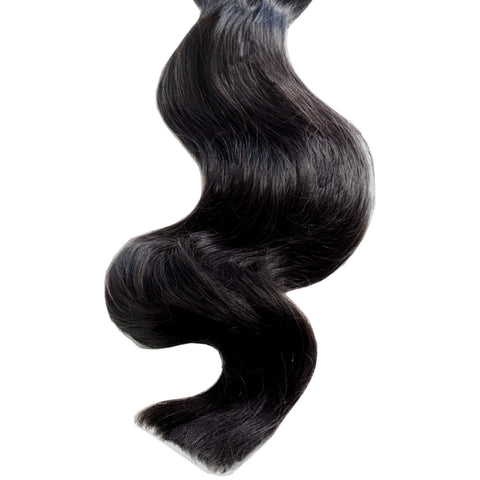 onyx black #1 clip on ponytail hair extensions 26inch deluxe 26inch
