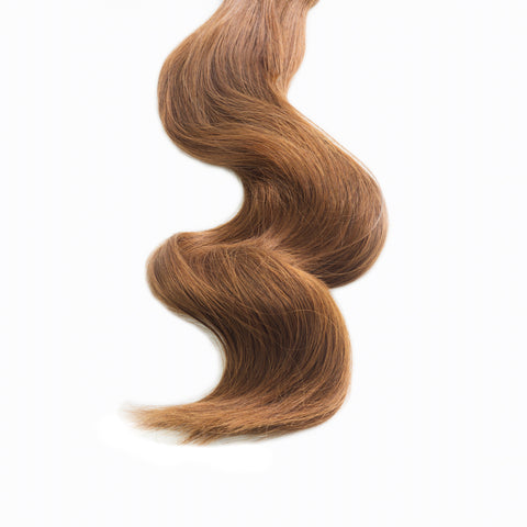 golden brown #6 clip in hair extensions 22inch deluxe