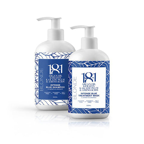 18 in 1 Intense Blue Shampoo & Mask 500ml Duo Pack