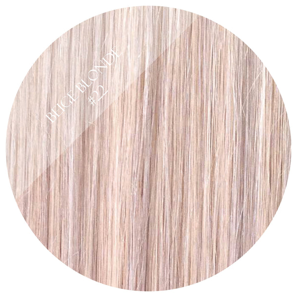 creme brulee blonde #22 tape hair extensions 20inch 80pcs - two full heads