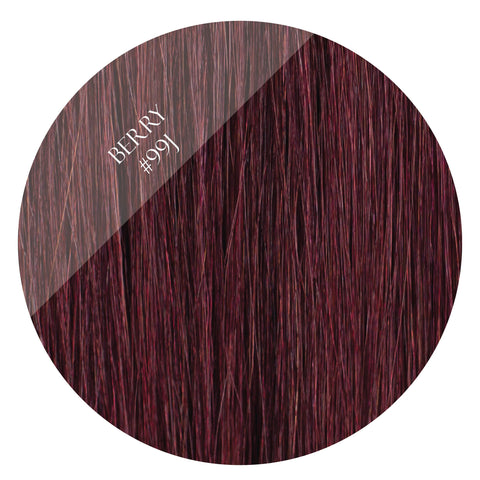 berry #99j fusion hair extensions 20inch 200pcs - two full heads