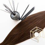 Bronze Brown #4 Clip In Hair Extensions 26-inch