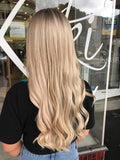 caramel swirl #12/613 clip in hair extensions 22inch classic