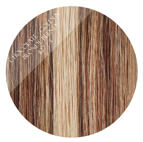 bronze bliss #27/3 skin weft hair extensions 26inch 80pcs - two full heads