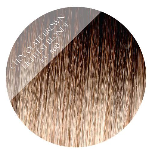 choc vanilla #3-60 fusion hair extensions 20inch 200pcs - two full heads