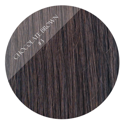 cadbury brown #3 halo hair extensions 20inch deluxe