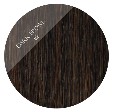 espresso brown #2 tape hair extensions 20inch 80pcs - two full heads