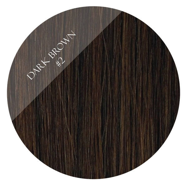 espresso brown #2 weft hair extensions 26inch deluxe