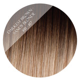 kit kat #1b-17 balayage halo hair extensions 20inch deluxe