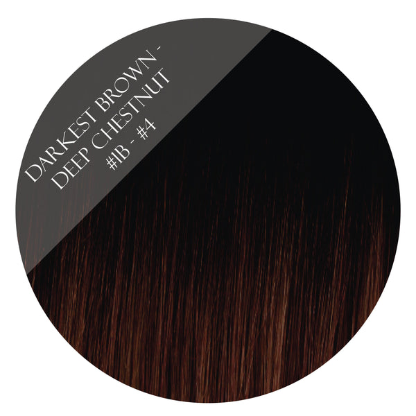 brownie points #1b-4 balayage halo hair extensions 20inch deluxe