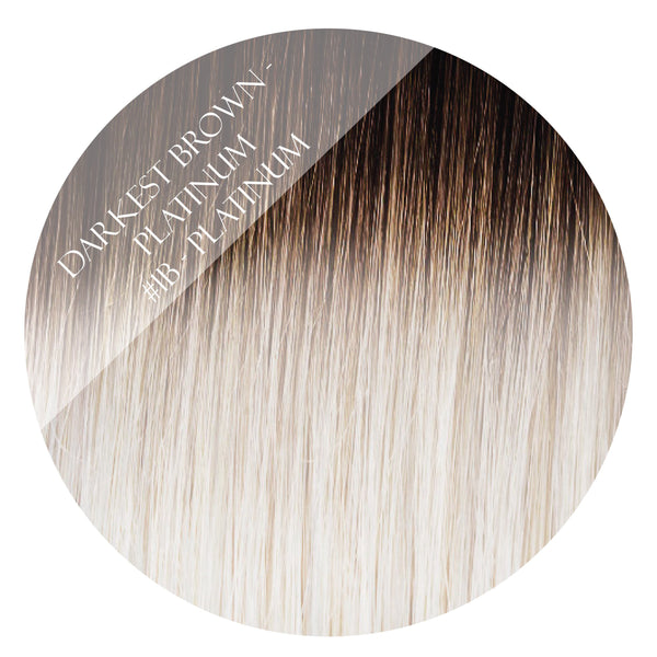 oreo #1b-platinum balayage tape hair extensions 26inch 80pcs - two full heads