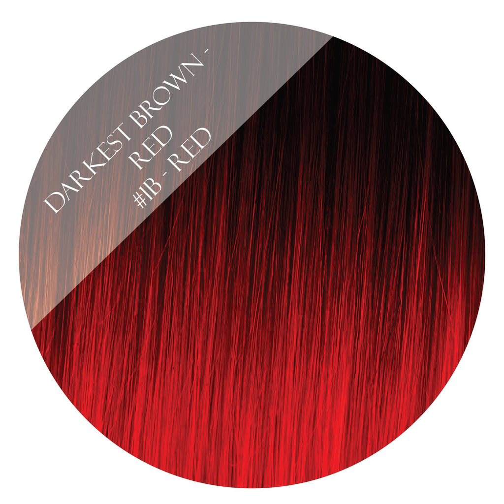 Cherry Ripe 1b Red Skin Weft Hair Extensions 26 Inch Minque Hair