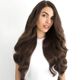 Espresso Brown #2 Weft Hair Extensions 26-inch