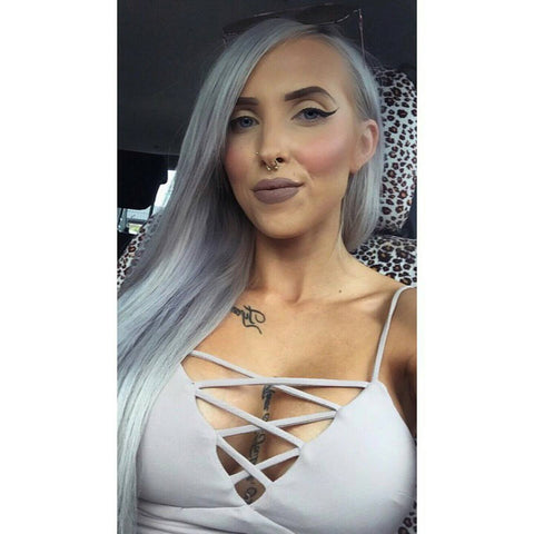 grey storm halo hair extensions 20inch deluxe