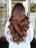 Minque Hair golden brown #6 halo hair extensions 20inch classic