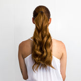 Minque Hair Golden Brown #6 Clip On Ponytail Hair Extensions