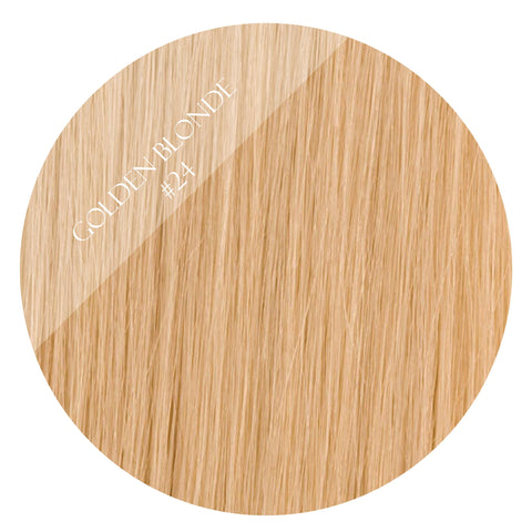 sunkissed blonde #24 weft hair extensions 20inch deluxe
