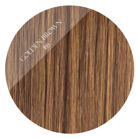 golden brown #6 weft hair extensions 26inch deluxe