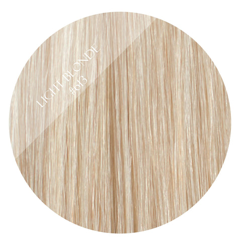 malibu blonde #613 weft hair extensions 20inch deluxe