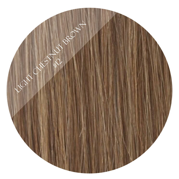 toffee brown #12 weft hair extensions 20inch deluxe