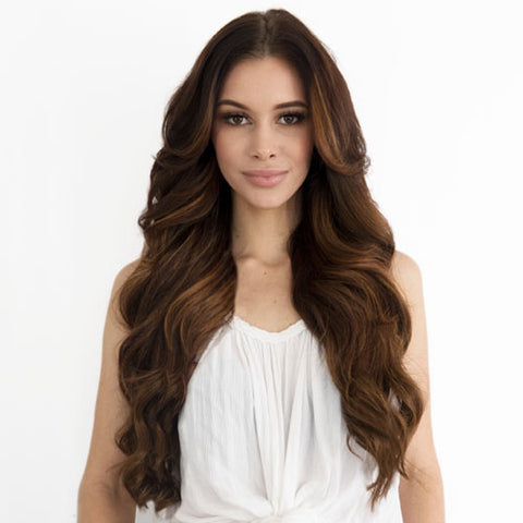 Bronze Brown #4 Fusion Hair Extensions 20-inch