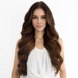 Bronze Brown #4 Clip In Hair Extensions 22-inch