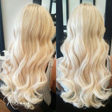 malibu blonde #613 halo hair extensions 26inch classic