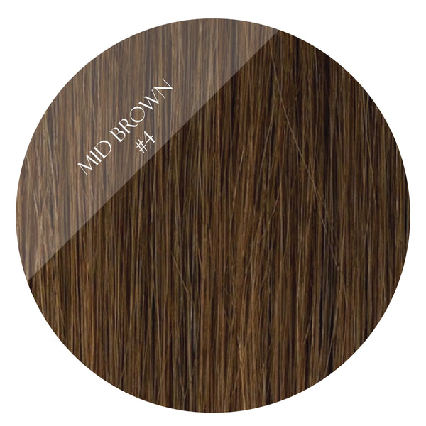 bronze brown #4 fusion hair extensions 26inch 200pcs - two full heads