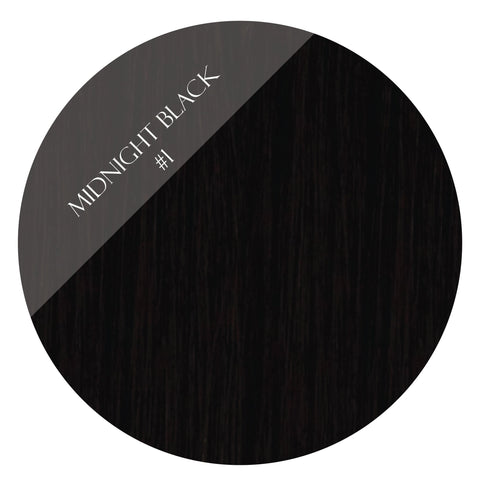 onyx black #1 clip in hair extensions 22inch deluxe