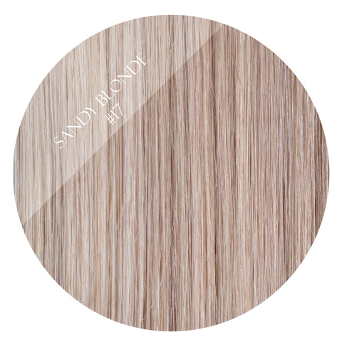 latte blonde #17 weft hair extensions 20inch deluxe