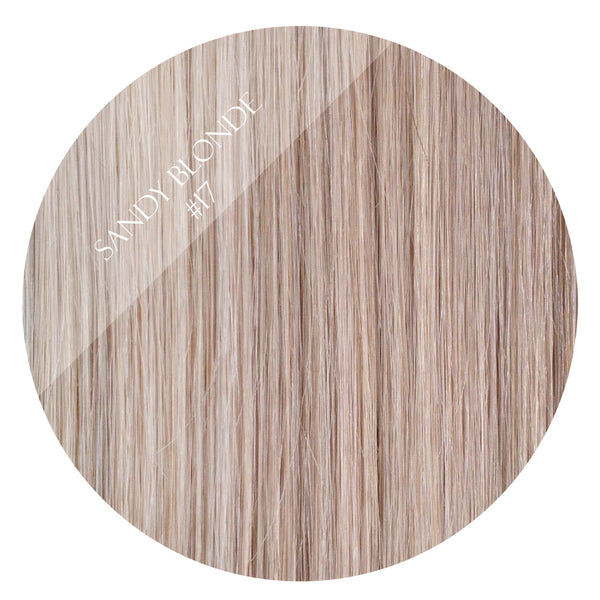 latte blonde #17 clip on ponytail hair extensions 26inch deluxe 26inch