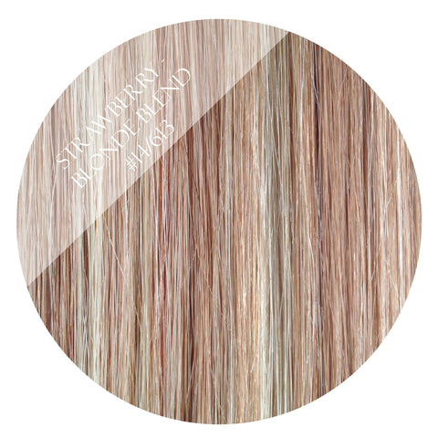 strawberries & cream #14/613 tape hair extensions 20inch 80pcs - two full heads