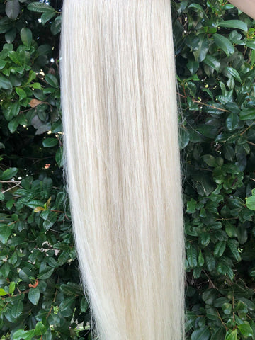 Vanilla Blonde #60 clip on ponytail hair extensions 22inch classic 22inch, Blonde Hair looks, Blonde Hair Styles, Hair Extensions Gold Coast, Hair Extensions Online, Cheap Hair Extensions, Good Quality Fusion Hair Extensions, Good Quality Fusion Hair Extensions, Straight hair, Blonde Permanent Straight Hair