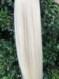 Vanilla Blonde #60 Tape Hair Extensions 20inch 20pcs - Half Head, Cheap Tape Hair Extensions, Expensive Tape Hair Extensions, Blend tape hair extensions, Cheap Blonde Hair Extensions, Expensive Blonde Hair Extensions