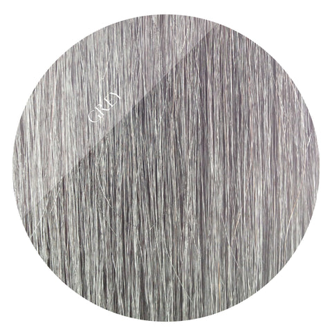 grey storm tape hair extensions 20inch 80pcs - two full heads