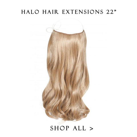 oreo #1b-platinum balayage halo hair extensions 20inch deluxe