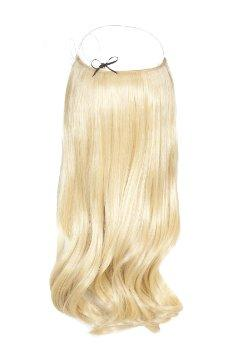 oreo #1b-platinum balayage halo hair extensions 26inch deluxe