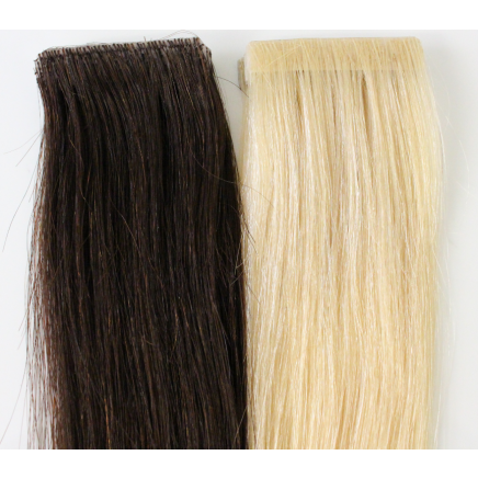 cadbury brown #3 skin weft hair extensions 20inch 20pcs - half head