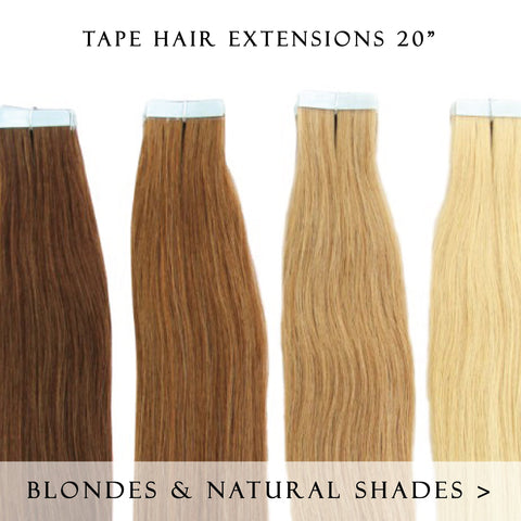cadbury brown #3 tape hair extensions 20inch 20pcs - half head