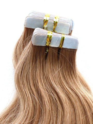 espresso brown #2 tape hair extensions 26inch 20pcs - half head