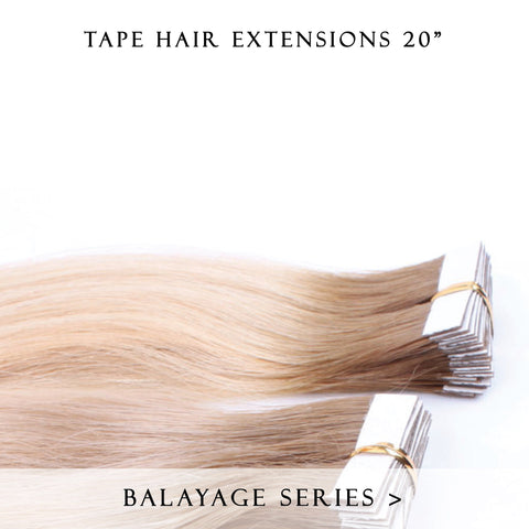 caramello haze #3-12 balayage tape hair extensions 20inch 20pcs - half head