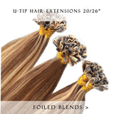 bronze bliss #27/3 fusion hair extensions 20inch 50pcs - half head