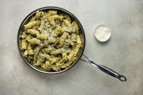 Mix the pasta and add parmigiano reggiano cheese