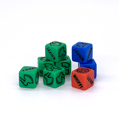 Very fancy custom dice from the Cup of Joe Expansion