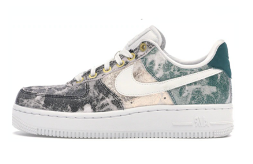 NIKE AIR FORCE 1 LOW METALLIC LEATHER