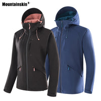 Mountainskin Men Women Softshell Hiking Thick Jackets Outdoor Sports Windproof Climbing Windbreaker Trekking Camping Coats VA618