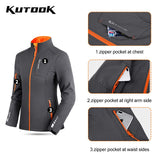 KUTOOK Women Cycling Soft Shell Jacket Winter Thermal Bike Hiking Camping Running Fleece Coat Windproof Outdoor Sport Clothing